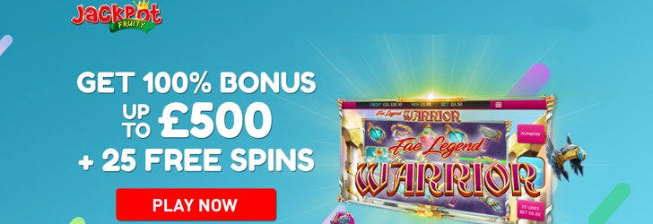 10 Free Spins on Signup at Jackpot Fruity Casino