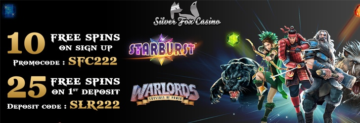10 Free Spins after Registration Account at Silver Fox Casino