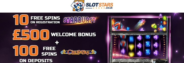 10 Free Spins Bonus at Slotstars Casino